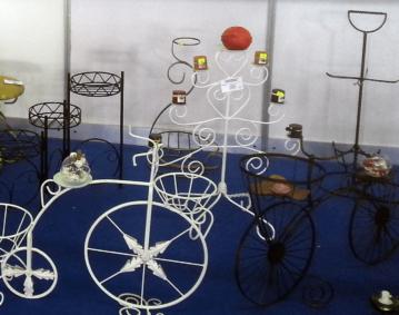 Suporturi flori bicicleta decorativa